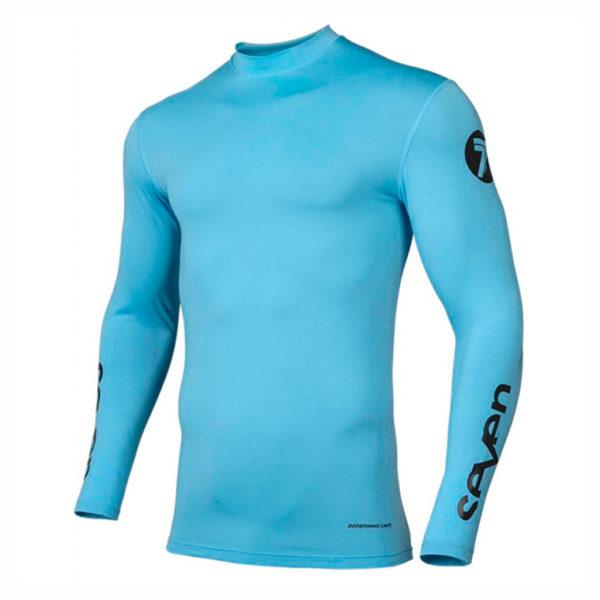 camiseta-compresion-seven-zero-azul-mx119