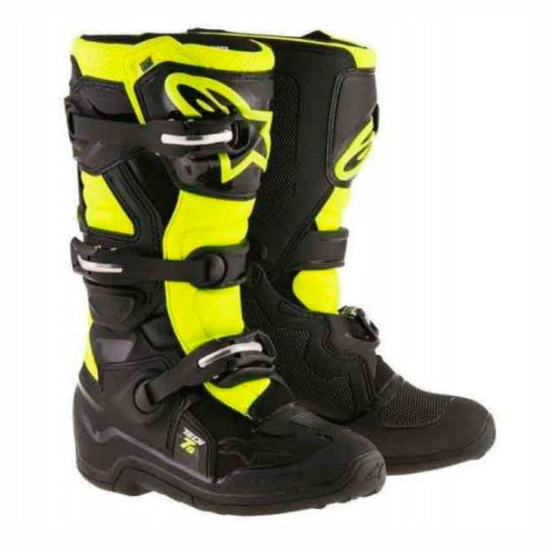 botas-alpinestars-tech-7s-black-yellow-mx119-junior