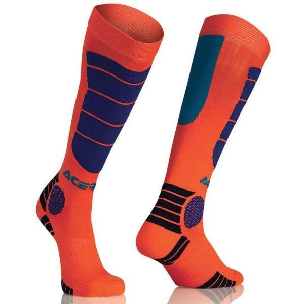 calcetines-acerbis-mx-impact-naranja-azul-mx119