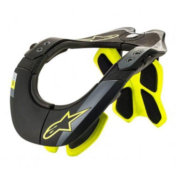 collarín-alpinestars-bns-tech-2-negro-amarillo-fluor-mx119